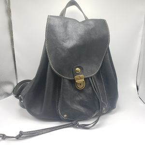 Patricia Nash Black Leather Backpack